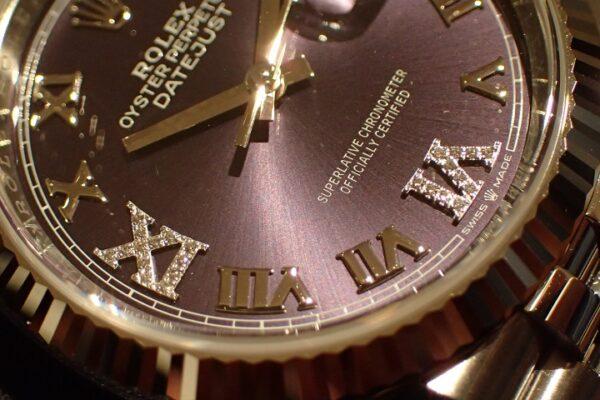 注目のカラーダイヤル Ref.126234 オーベルジーヌ