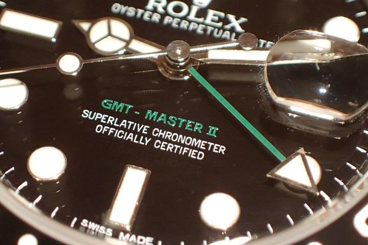希少カラー GMT-MASTER II Ref.116710LN